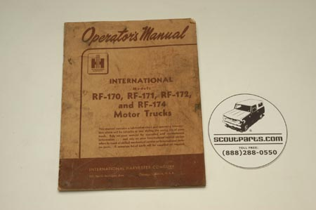 Operators Manual - RF-170, RF-171, RF-172, and RF-174 Trucks