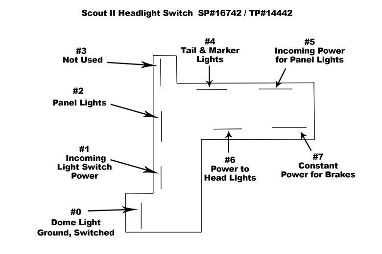 Scout Ii Connector - Head Light Switch - Wiring Harness Replacement