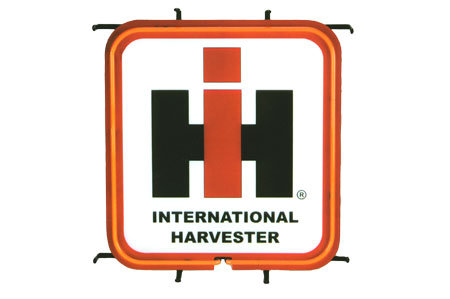 IH logo neon light