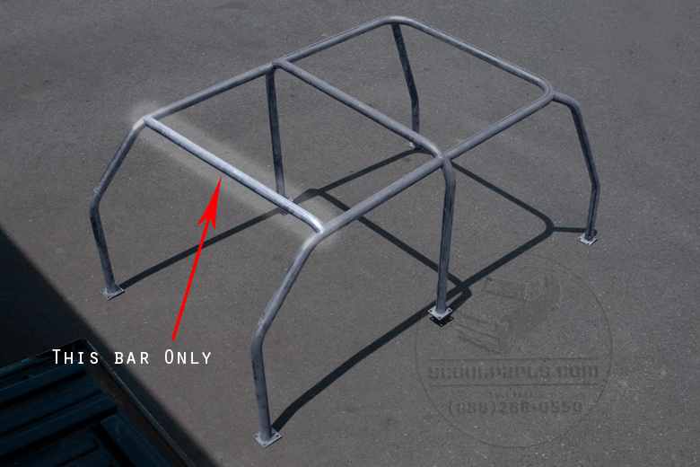 Bikini Top Rear Cross Bar For 6 Point Roll Cage.