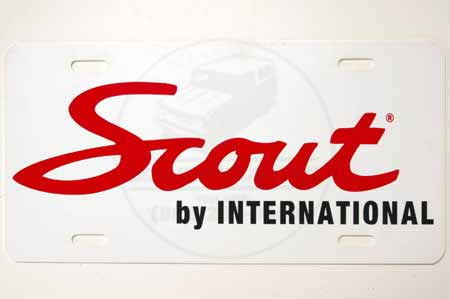 Cursive Scout License plate