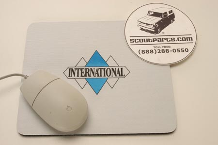 Mouse Pad With Old Time Tripple Diamond Logo