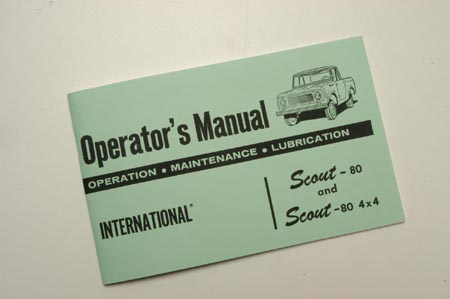 Operator Manual (Owners Manual) 61-64 Scout