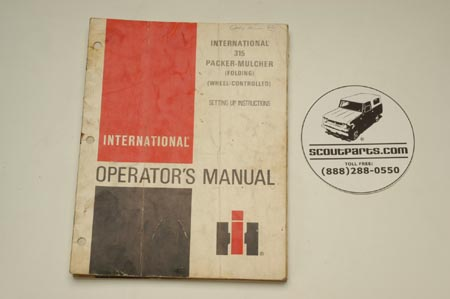 International 315 Packer-Mulcher  Operators's Manual