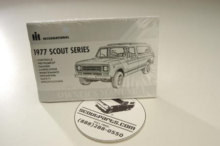 Scout II Owners Manual - 1977  Owners Manual