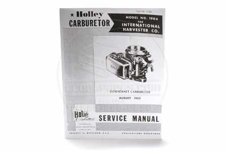 Service Manual - Holley 1904 Carburetor
