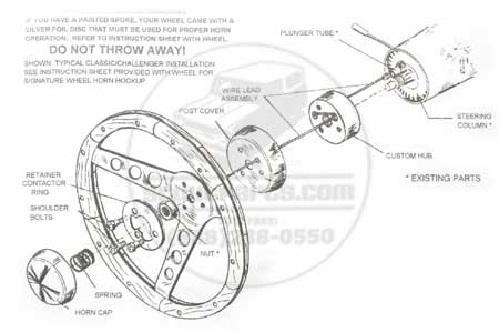 Scout II Steering Wheel Horn Adapter Kit