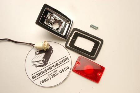 Red Side Marker Housing and Lens