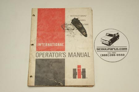 International 14 Soil  Chisel Operators's Manual