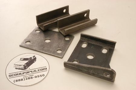 Scout II Spring Mounting Brackets - Front Axle