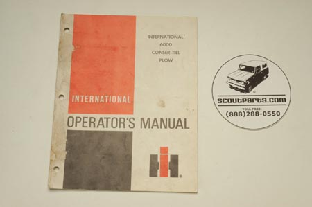 International 6000 Conser-Till Plow Operatoer's Manual 1097230R2.6-80