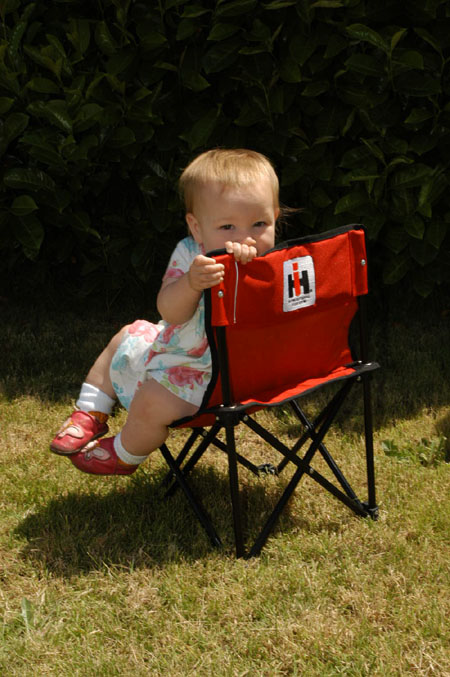 "Scout II, Scout 80, Scout 800 ""IH"" Kids Camp Chair. The IH Is Embroidered On Front & Back"