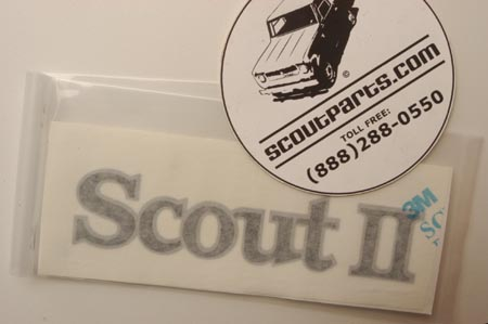 Scout II Decal