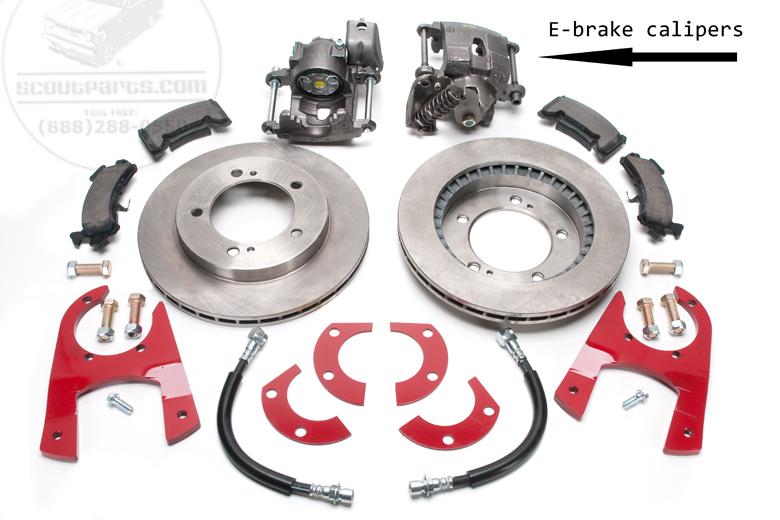 Disc brake conversion kit with E-brake -   dana 27 axles.