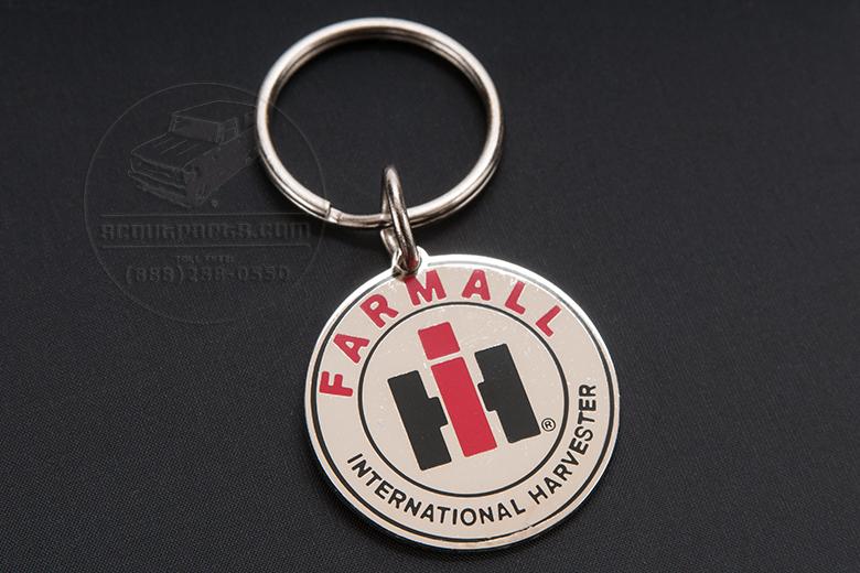 IH Farmall Gold Enamel Keychain
