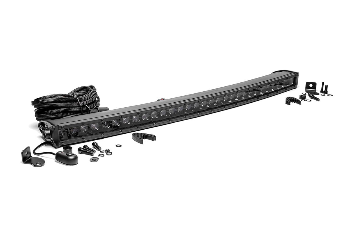 30in Rough Country CREE Black Series Single Row Curved Light Bar