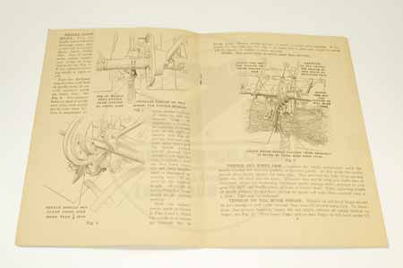 "Case ""B"" Series Grain Binder Manual With REpair Parts List"