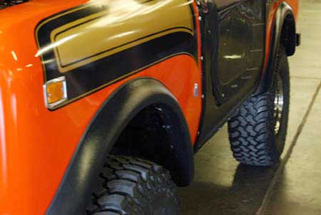 Scout II Bushwacker Fender Flare Kit  of two flares