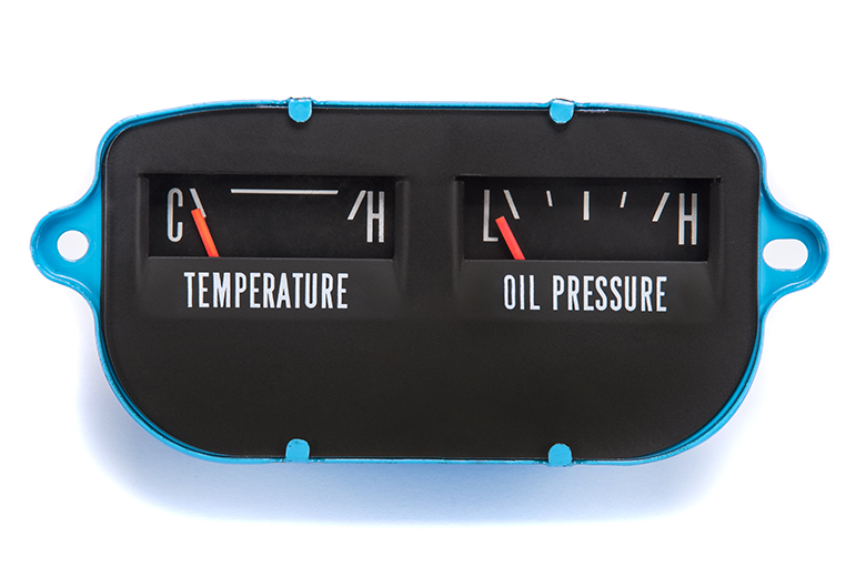 Scout II Gauge - Fuel - Amp, Temp - Oil, Rebuilt And Renewed