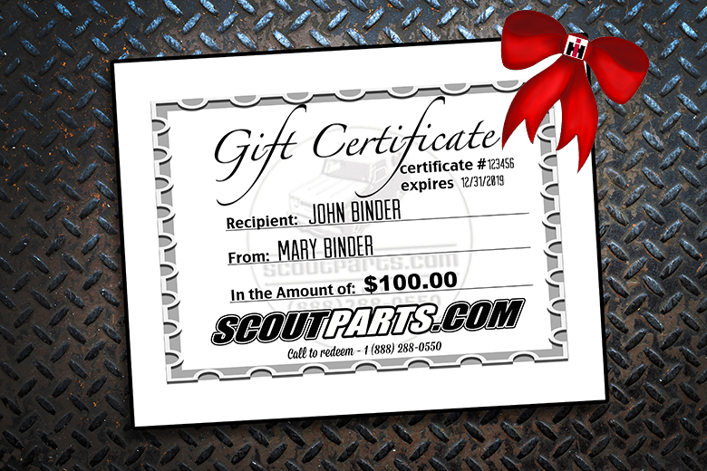 Scout II, Scout 80 Scout Parts Gift Certificate