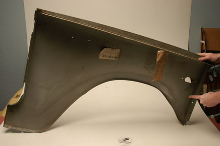 Scout 80, Scout 800 Fender Front Driver Side   - New Old Stock