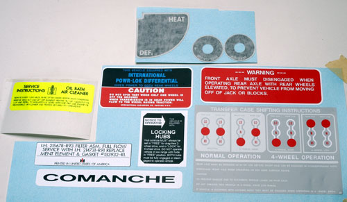 Decal Kit (Dash and Motor)