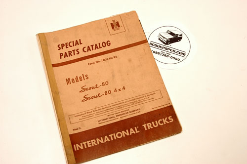 Scout 80 Special Parts Catalog