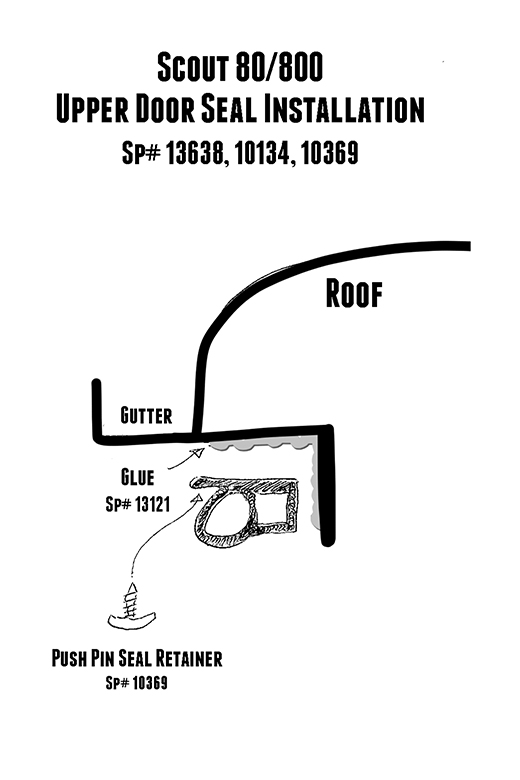 Scout 80, Scout 800 Door to Body Seal Kit Upper and Lower (1963-1971)