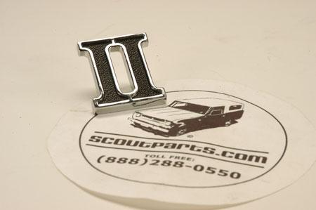 """Scout II, Scout II Diesel - Rear Side """"II"""" Emblem"""