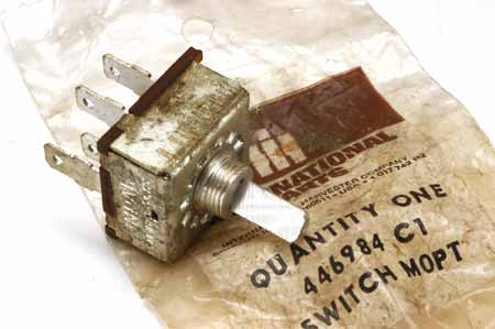 A/C Blower Motor Switch - New Old Stock