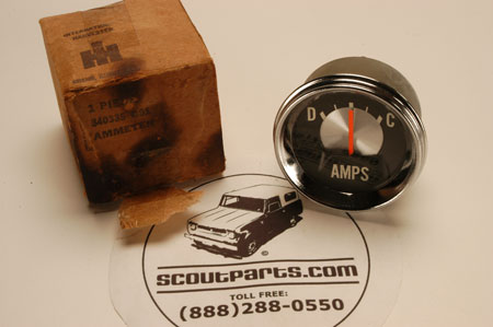 Scout 800 gauge Amp Meter- New Old Stock